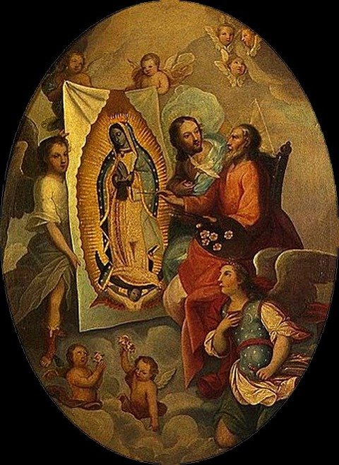 Eternal Father painting the Virgin of Guadalupe Anonymous 18th