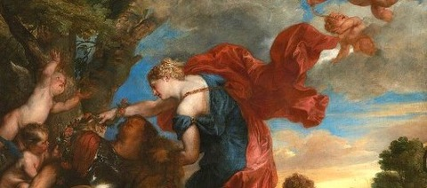 Armida discovers the sleeping Rinaldo by Anthony van Dyck -