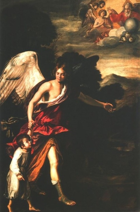 Matthias Stom, The Guardian Angel, 17th century