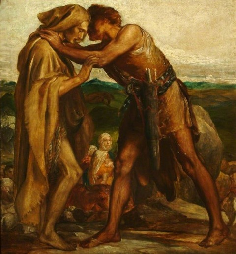 Jacob and Esau, 1878 by George Frederick Watts