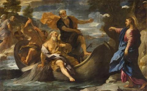 Luca Giordano 1632–1705  Calling Saint Peter Saint Andrew