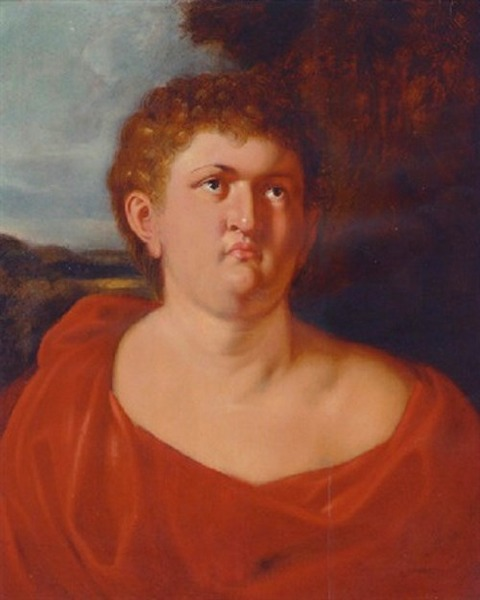 portrait of nero, with a red wrap by peter paul rubens after