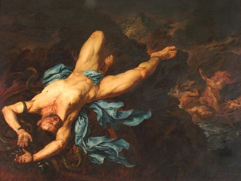 Giovanni Battista Langetti - The Torture of Ixion 17th
