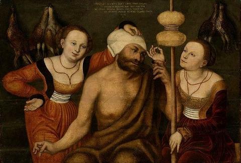 Lucas Cranach I - Hercules and Omphale  1531