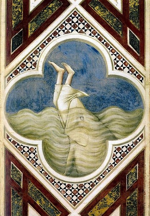 Jonah in the fish's mouth Giotto