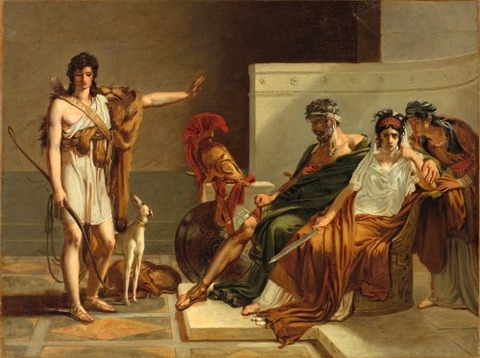 Pierre-Narcisse Guérin, Phaedra and Hippolytus 1802