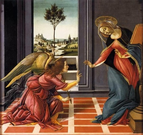 Cestello Annunciation - Alessandro Botticelli