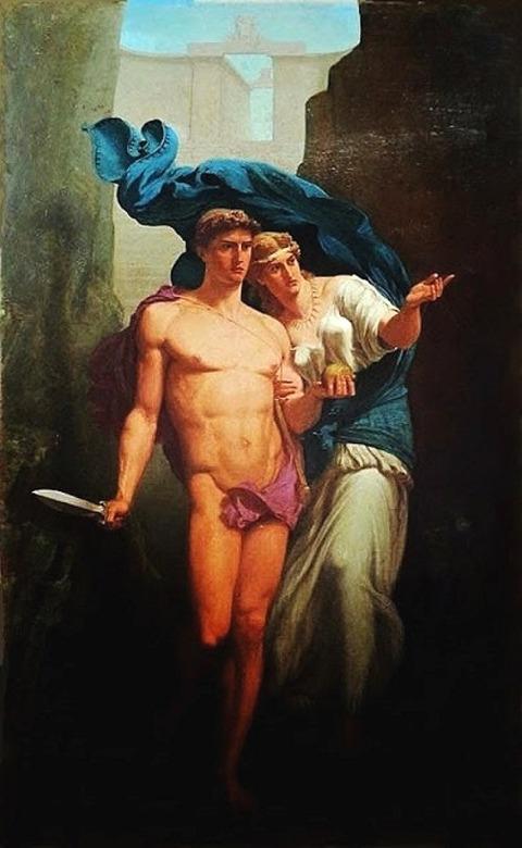 Charles de La Fosse  1829-1910 Theseus and Ariadne