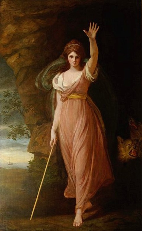 George Romney, Emma Hart, Lady Hamilton as Circe, 1782