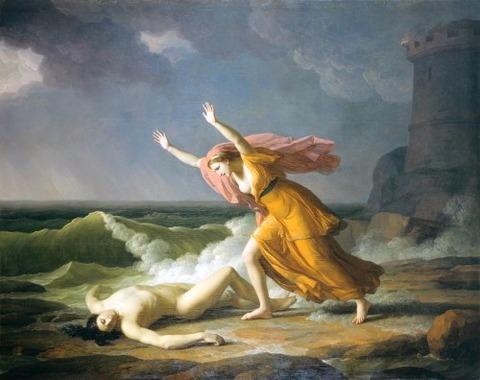 Hero and Leander. 1789. Jean Joseph Taillasson
