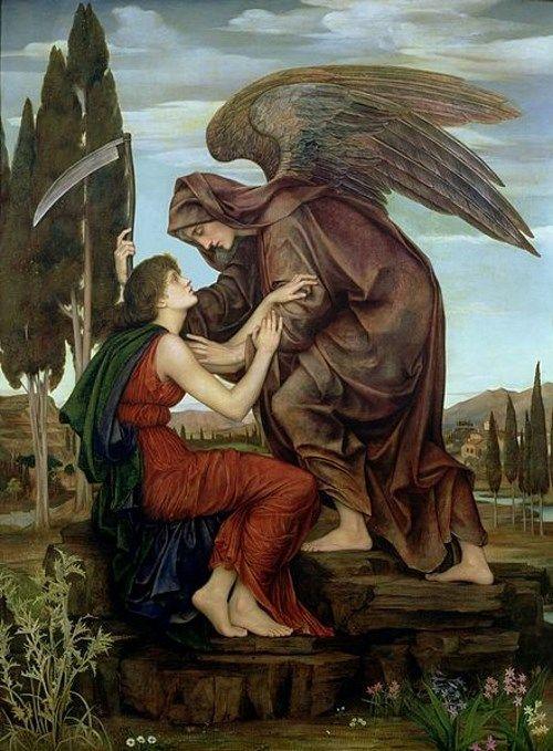天使の絵画死の天使