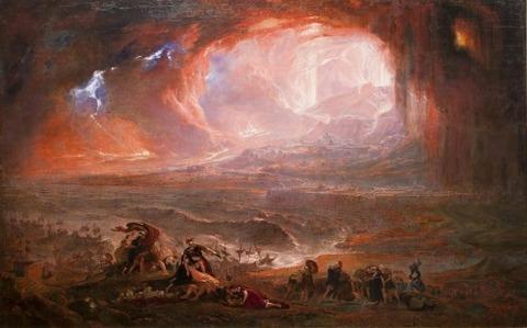 John Martin Pompeji és Herculaneum pusztulása 1821