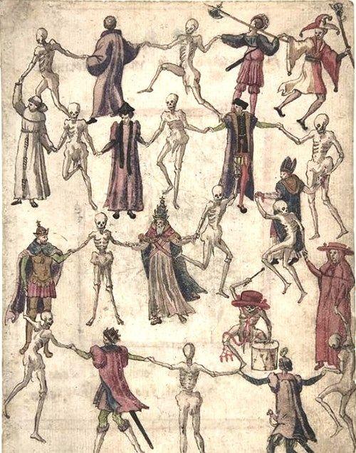 絵画10点】 死の舞踏と死の勝利 ― 恐怖に染まった狂気の民衆は、仄暗い ...