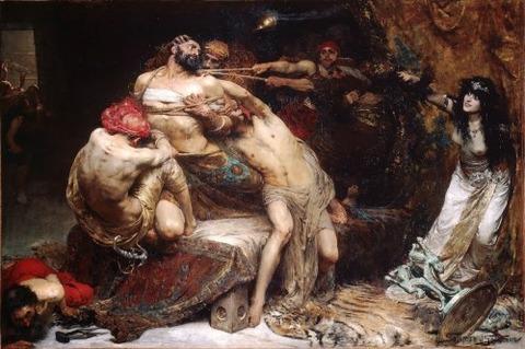 Solomon Joseph Solomon Samson and Delilah (1887)