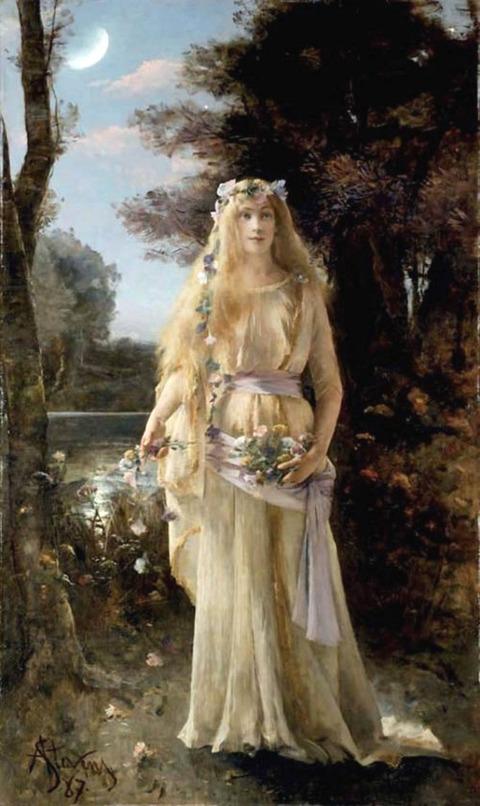 Alfred Emile Leopold Stevens  1887