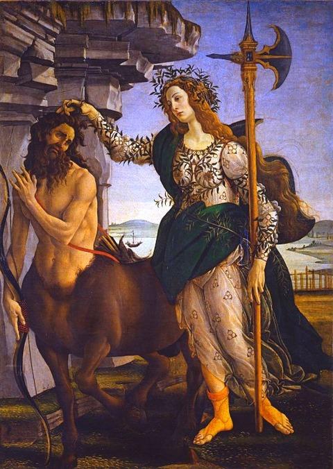 Botticelli  Pallas and the Centaur 1482