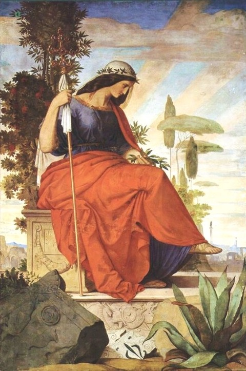 Philipp VEIT Allegorical Figure of Italy 1834-1836