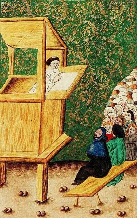 John Hus preaching 1490