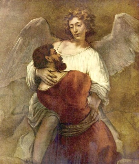 Rembrandt  Jacob Wrestling with the Angel 1659