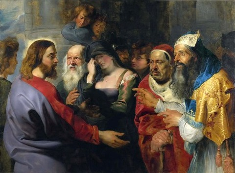 christ and the adulteress peter paul rubens