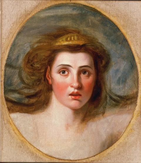Lady Emma Hamilton 1761–1815 as Cassandra  George Romney