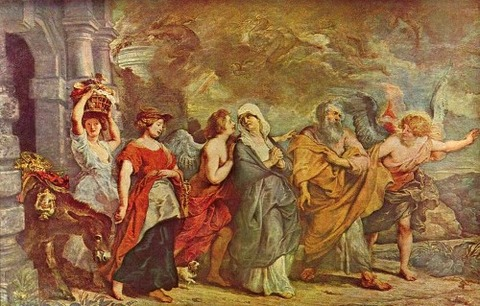 Peter_Paul_Rubens  The Flight of Lot 17th