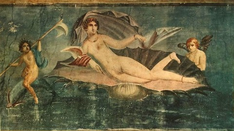 The Birth of Venus. From Pompeii. Second Century AD