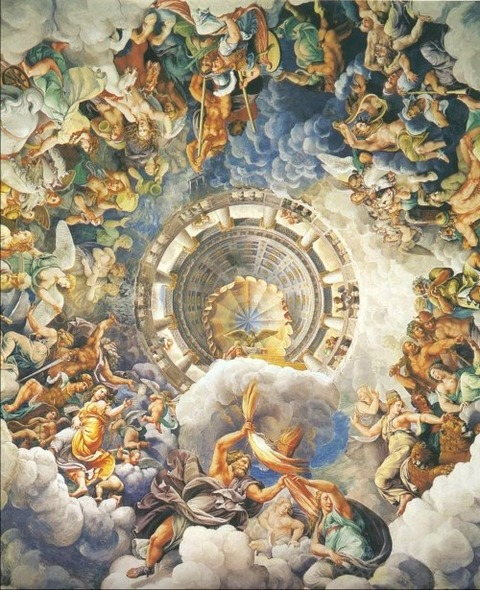 guilio romano fall of giants 1532 1534 fresco 2