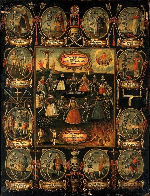Unknown. A German painting of the Danse Macabre