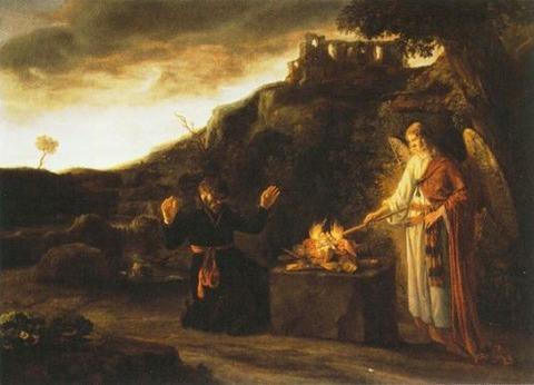 Constantijn van Renesse - Gideon and the Angel