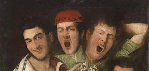 men yawning. Credit Luigi i Montejano  1850 -