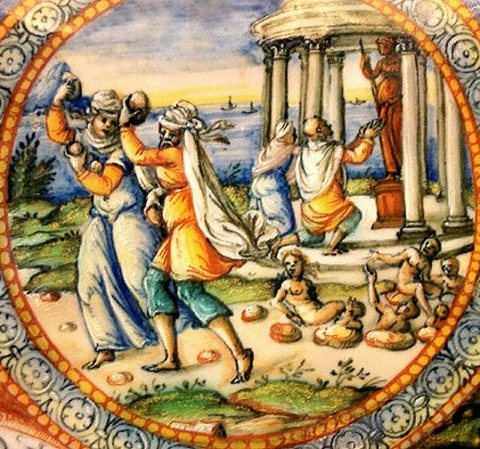 Pyrrha and Deucalion, by Fontana