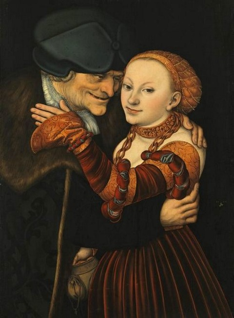 Lucas Cranach the Elder. Ill-matched Lovers