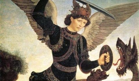 Michael and the Dragon by Antonio del Pollaiuolo