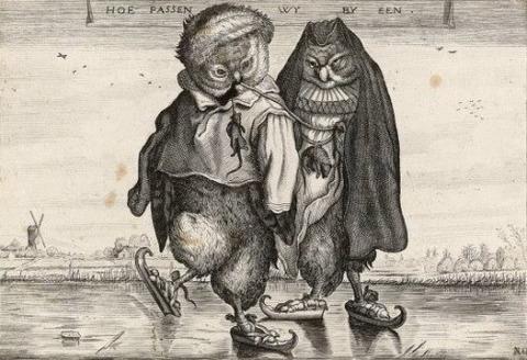 Adriaen van de Venne Skating Owls 1620-1660