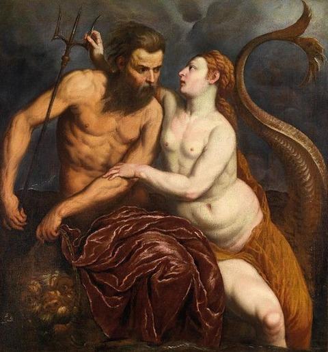 Neptune and Amphitrite - Paris Bordone 1560