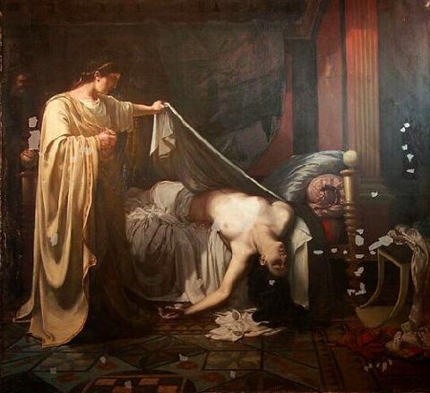 Eugène Appert (1814-67) Néron devant le cadavre d'Agrippine