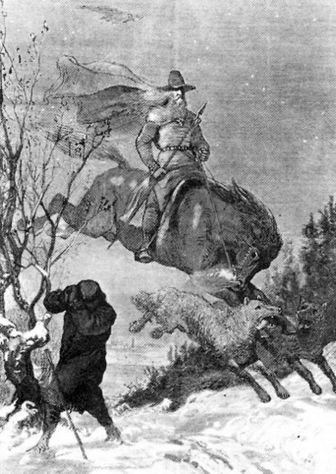 The Wild Hunter  Rudolf Friedrich August Henneberg, 1856