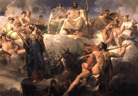 Merry-Joseph Blondel Minerva  Poseidon disputing city Athens