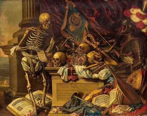Memento mori painting by Carstian Luyckx