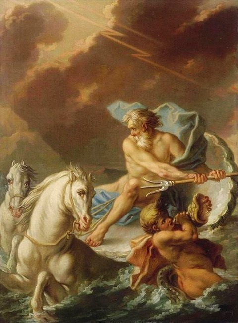 Neptune. 18th.century. Jeaurat Etienne1699-1789