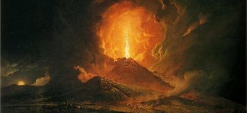 Joseph Wright of Derby - Eruzione del 1771 da Portici 1774-6 -