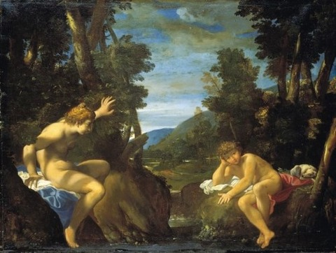 Ludovico Carracci, Salmacis and Hermaphroditus, c. 1632