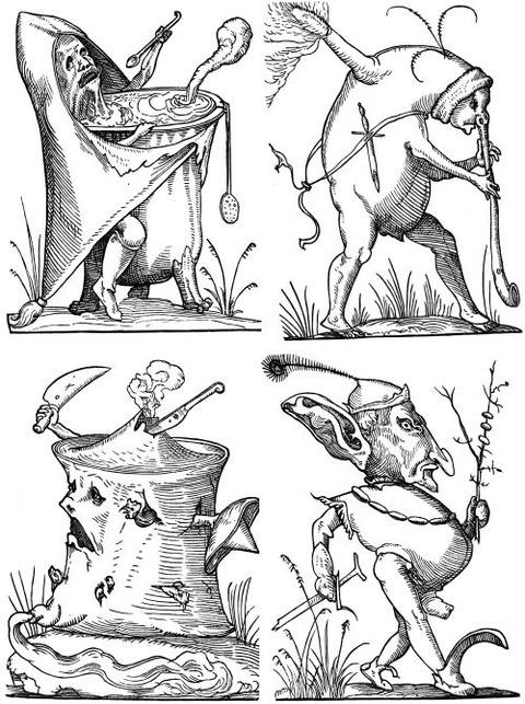 François Desprez - The Droll Dreams of Pantagruel (1565) 6