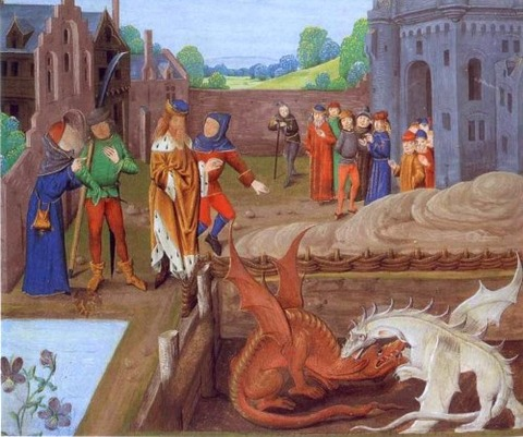 dragons from 15th history-of-the-kings-of-britain