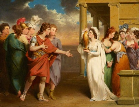 The Return of Orestes electra John Downman 1750–1824