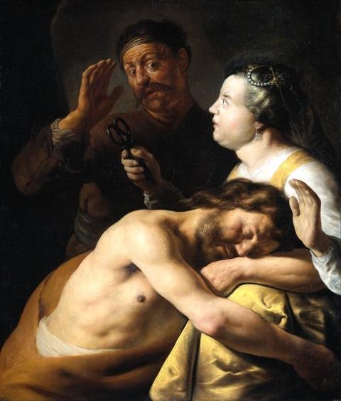Rembrandt van Rijn - Samson and Delilah, 1630