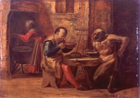 Jan van de Venne  The Satyr in the Peasant's House 17th
