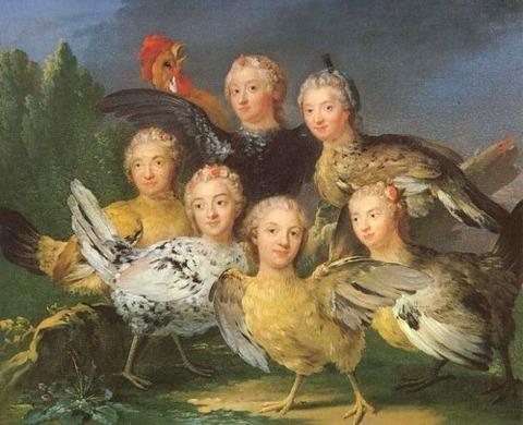Représentation des Harpies suédois Johan Pasch, 1747
