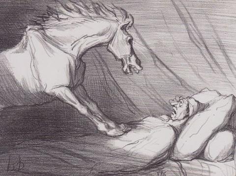 Honoré Daumier's  nightmare (1856)